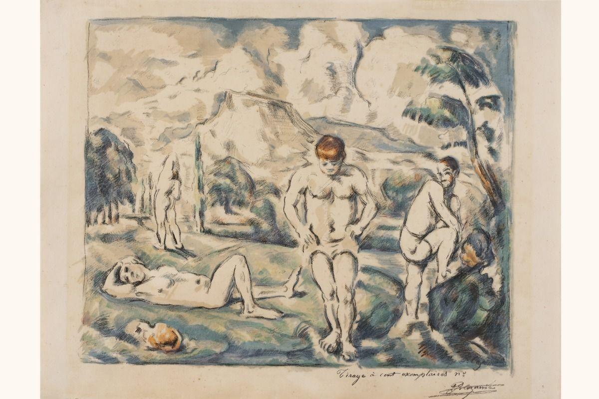 Cézanne drawing collection in Manchester