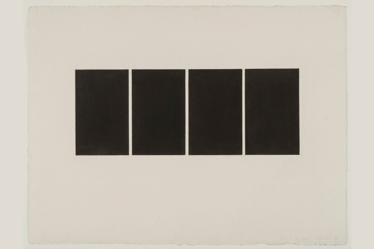 Brice Marden drawings at the Menil Drawing Institute